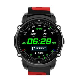 Cronómetro deportivo a prueba de agua online-Nuevo reloj FS08 Bluetooth Smart Watch impermeable a prueba de agua IP68 GPS Sport Fitnes Tracker Cronómetro Reloj Monitor de ritmo cardíaco para Android