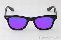 Wholesale Vintage Titanium - 2017 Vintage Sunglasses Men Women 52mm Brand Designer Cat Eye Sun Glasses Bands Mirror Gafas de sol Lenses with cases
