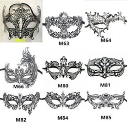 Wholesale carnival cuts - Wholesale A variety of shapes and colors Vintage metal laser cutting Phantom Halloween Mask Venice Carnival masquerade men