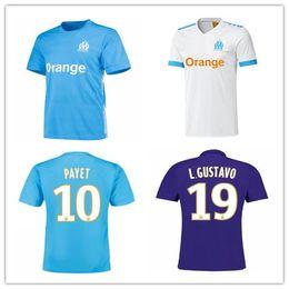 Wholesale 17 Shirts - Olympique de Marseille Soccer jersey 2017 2018 OM Marseille Maillot De Foot PAYET ANGUISSA GOMIS jerseys 17 18 away 3rd Marseille shirts