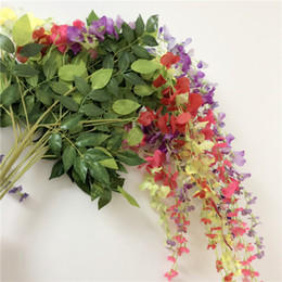 Shop silks flower shop uk silks flower shop free delivery to uk 100pcs artificial ivy flowers hydrangea silk plastic wisteria vine rattan wedding decoration for home party shopping mall 43 30 inch mightylinksfo