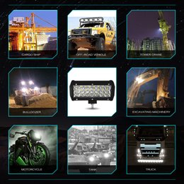 2019 luci rosse ems 7 pollici 3 righe 72 w led light bar 6000k 7200LM Jeep LED luce di lavoro Philips LED chips Combo Beam