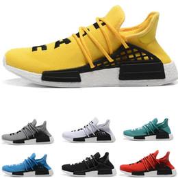 d5c5dab2f78 2018 Adidas Human Race Hu NMD Trail TR sheos Factory Réel Boost Jaune Rouge  Vert Noir Orange Hommes Femmes Chaussures De Course Pharrell Williams X  Human ...