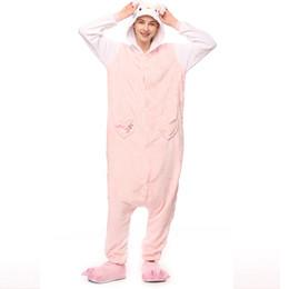 9271466806 ZDFURS  Cute Kitty Cat Pajamas Cartoon Anime Animal Hooded Sleepwear Party  For Women Men Girls Warm Homewear Sets