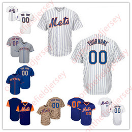 Wholesale Womens Camo Shorts Xl - Custom New York Mets Mens Womens Kids White Black Camo Cream Grey Blue Nickname Customized Stitched Any Name Number Jerseys S,4XL