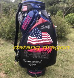 Banderas americanas originales online-bolso de golf original del dragón del datang SHERIFF bandera de los EE. UU. Bolso americano superior del golf negro de los clubs clubs