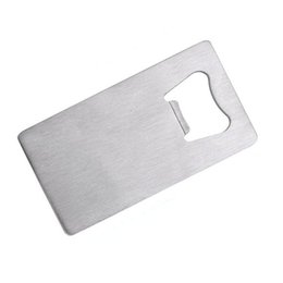 Wholesale Christmas Wine Opener - Wallet Size Stainless Steel Credit Card Bottle Opener OEM Wine Accessories Wedding Party Favors Christmas Gift