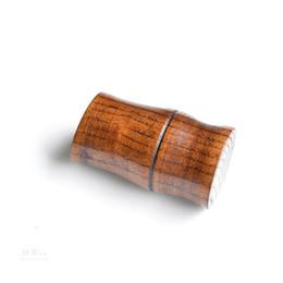 Wholesale Jujube Wholesale - Wooden toothpick box hotel hotel toothpick jar wooden canister imitation bamboo jujube cylinder