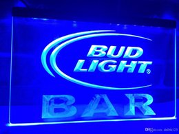 Wholesale Bud Light Orange - LA093b- Bud Light BAR Bud Beer LED Neon Light Sign