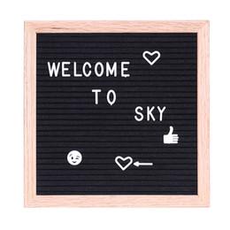"Wholesale Felt Frames - Pay link for selina Felt Letter Board Sign Message Home Office Decor Board Oak Frame White Letters Symbols Numbers Characters Bag 10"" * 10"""