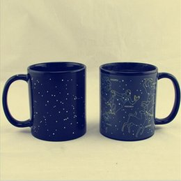 Wholesale ceramic cup magic - 12 Constellations Discoloration Mug Color Change Mugs Creative Heat Reactive Magic Ceramic Cups Office Coffee Milk Cup OOA4348
