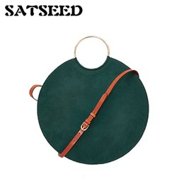Wholesale Rings Large Stones - Women Round Bag Designer Special New Simple Personality Ring Large Capacity Satchel Tide Fashion Handbag Green