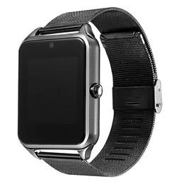 Wholesale Wristwatch Phones - Smart Watch GT08 Z60 Men Women Bluetooth Wrist Smartwatch Support SIM TF Card Wristwatch For Apple Android Phone PK DZ09