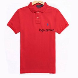 Wholesale high fashion clothing brands - Brand Designer Polo Summer Shirt Men Tops Short Sleeve Clothing With Pattern High Quality Fashion Luxury Brands Imitated Shirts Size S-2XL