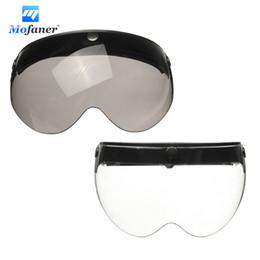 Wholesale motorcycle helmet open face visor - Mofaner Universal Front Flip Up Visor Wind Shield Lens For Open Face Motorcycle Helmets