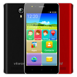 Wholesale F1 Android - Vkworld F1 Senior 3G Smartphone 4.5 Inch Android 5.1 Quad Core 1GB RAM 8GB ROM Louder Speaker GPS