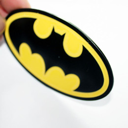 Wholesale Car Parts For Bmw - Metal Hero Batman Logo Emblem Decal Sticker Car Styling Fender Gas Tank Hood Decoration Badge Fit For Bmw Ford Auto parts
