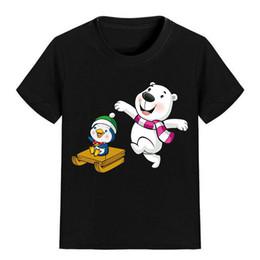 Wholesale Cartoon Kids Tees - NEW ARRIVAL Children Cartoon T Shirt White Bear Printed Boy Kid Clothes Short Sleeve Girl Tee Shirt Kid Summer P1980