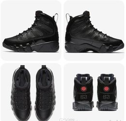 Wholesale Free City Shoes - 9 Bred Men Basketball Shoes 9s IV 9 black Anthracite University red Sports Shoes City Of Flight Sneaker Top Quality Athletics free shippment