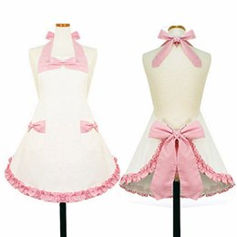 Wholesale free big cook - Crafts Avental free Shipping for Kitchen Accessories Apron Japan Cooking Aprons Fashion Big Bow Cotton Fabric Customize