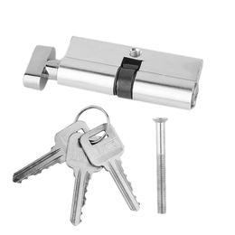 2019 outils de tonalité 70mm en aluminium en métal porte serrure cylindre sécurité à la maison anti-enfoncement anti-perceuse avec 3 clés ton argent mis outils outils de tonalité pas cher