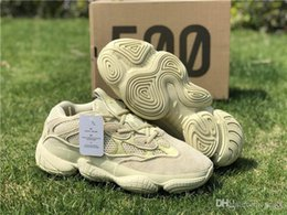 New 2018 Originals 2019 Blush Desert Rat 500 2019 Kanye West Running Shoes  For Men Women Super Moon Yellow 3M Authentic Sneakers 7709ec9e1