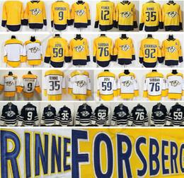 2018 Neue Nashville Predators 9 Filip Forsberg 12 Mike Fischer 35 Pekka Rinne  59 Roman Josi 92 Ryan Johansen 76 PK Subban Jersey günstig mike fisher  jersey 6b3e51301