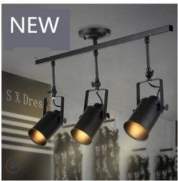 Wholesale Head Lamp Shop - free shiping Loft vintage Industrial hotsale shop LED Ceiling lamp Single Three heads