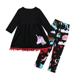 Wholesale Dress Pants For Kids - Baby Girls Clothing Sets Children Christmas Costumes Kids Tracksuit for Girls Clothes Outfit Set Girl Unicorn Dress Pants