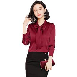 La camicetta di seta del gelso a maniche lunghe tinta unita della camicia a maniche lunghe di seta d'autunno cinese di stile sembra OL sottile da camicetta per le donne sottili fornitori