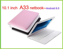 android laptop netbook Rabatt Neue Ankunft Laptop 10,1 Zoll Dual Core Mini Laptop Android 6.0 A33 ARM Cortex-A9@1.5GHZ WIFI 1G + 8G Netbook