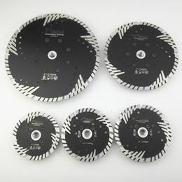 strumento multimaster di fein Sconti DIATOOL 1pc Diamantato turbo a caldo con lama di protezione con denti di protezione inclinati Disco da taglio per taglio di calcestruzzo con M14 FLANGIA