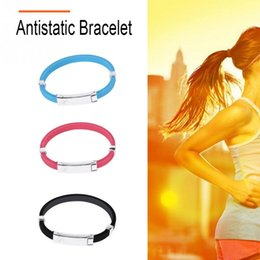 anti static wrist straps Promo Codes - Hologram Bracelet Anion Bracelet Antistatic Band Anti Static Wrist Strap Care Wristband Silicone