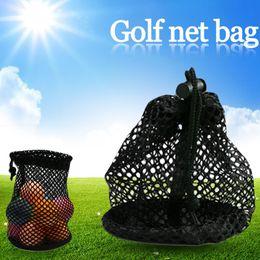 neuheit golfbälle Rabatt Haltbare Mesh Netze Tasche Pouch Tauchen Golf Tennisbälle Tragen Halter Lagerung Clip Auf Caddy Pouch 28x13cm Schwarz