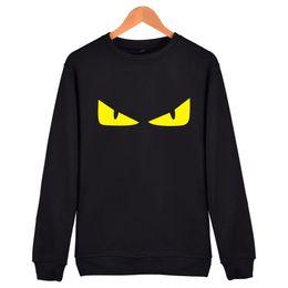 Roter hoodie 4xl online-Winter Mode Monster Hoodie Männer Pullover Langarm O Hals Schwarz Grau Rot Männer Sweatshirts S-4XL