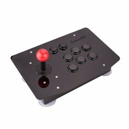 Wholesale Arcade Games Pc - Gasky New Arrive 8 Button Arcade Joystick PC Controller Acrylic Computer Game Console Gamepad Gaming Gift Tools For Kid Children