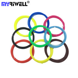 Wholesale Pla Plastic 3d Printer - 10 Colors 50m 3D Printer Filament ABS PLA 1.75 mm Plastic Material For 3D Pen Doodler Drawing and Printing