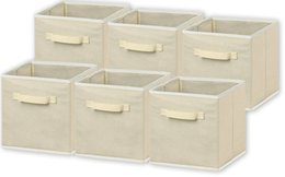 Wholesale Clothes Storage Bin - 6 Pack Foldable Cloth Storage Cube Basket Bins Organizer 11inch x 10.2inchx 10.2inch