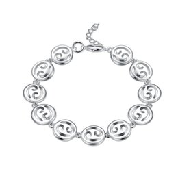chain set men silver 925 NZ - Top sale!The hand chain of the hand sterling silver plated bracelet SPB579;high quatity fashion men and women 925 silver Charm Bracelets