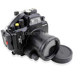 bolsas de cámara equipadas Rebajas 40 metros 130 pies subacuático bolsa de la caja de la cámara de buceo a prueba de agua para Olympus E-M5 EM5 OMD ajuste 12-50 mm lente E-M5