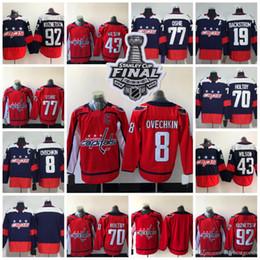 6f7462ece 2018 Stanley Cup Washington Capitals 8 Alexander Ovechkin 77 TJ Oshie 70  Braden Holtby 19 Nicklas Backstrom Winter Classic Hockey Jerseys
