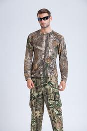 Canada Livraison Gratuite 100% Coton Hommes Realtree AP Camo Chasse À Manches Longues T-Shirt Camouflage Chasse De Pêche Chemises Hunter Porter Des Chemises De Plein Air Offre