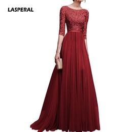 платья с короткими рукавами Скидка LASPERAL плюс размер повязки длинное платье старинные женщины Vestidos высокой талией вечернее платье шифон блестками платья партии женщин Девушки