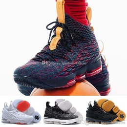 Wholesale Pads Elbow - (with box) 2018 Ashes Ghost Floral equality Lebrons 15 Basketball Shoes men Lebron shoes Sneaker 15s Mens sports Shoes James 15 us 7-12