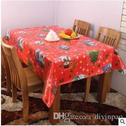 2019 pezzi da tavola per matrimoni Pvc 120 * 140 Table Table Cloth impermeabile Table Cover Banchetto monouso Chrismas decorazione del partito Tavoli Tessili per la casa