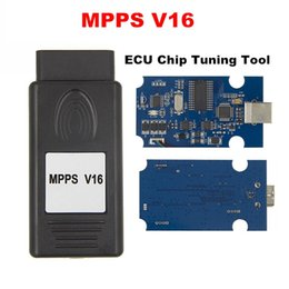 Wholesale obd programmers - High Quality MPPS V16 Auto ECU Chip Tuning Interface Multi-Language OBD OBDII Read&Write ECU Flasher For RDC15 EDC16 EDC17