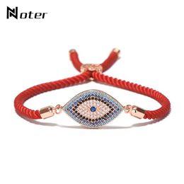 Micro cuerdas mujeres online-Lujo Evil Eye Micro Crystal Pulsera Red Thread String Turquía étnico Braclet para mujeres niñas mano Lucky joyería turca