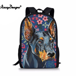 Women Casual Schoolbag Flower Dogs Printing School Backpack For Teenager  Girls Book Bags Adolescence 2018 Satchel 21bd439647c59