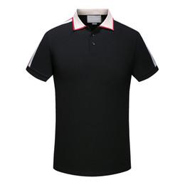 Роскошная итальянская дизайнерская футболка-поло в полоску 2019 Роскошная змея-поло с цветочной вышивкой supplier polo horse shirt от Поставщики рубашка-поло
