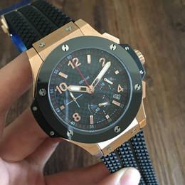 Wholesale Mens Offshore Watch - Luxury watches Sport Mens Watch Quartz Chronograph Stopwatch Royal Oak Offshore Fashion Men Watches Rubber Strap Wristwatch